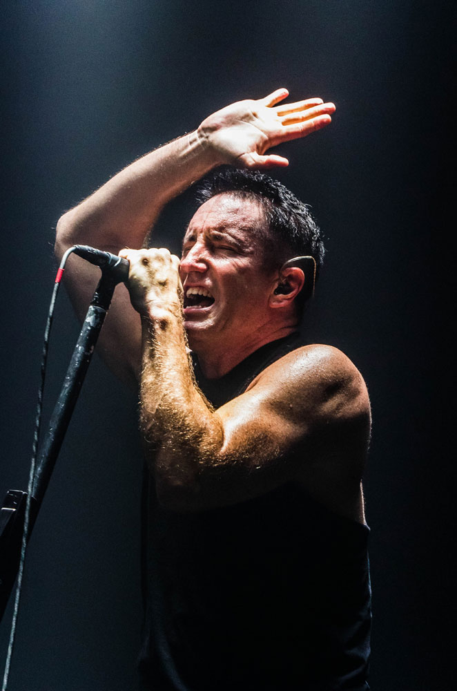 Nine Inch Nails: Trent Reznor in action. Criss Images