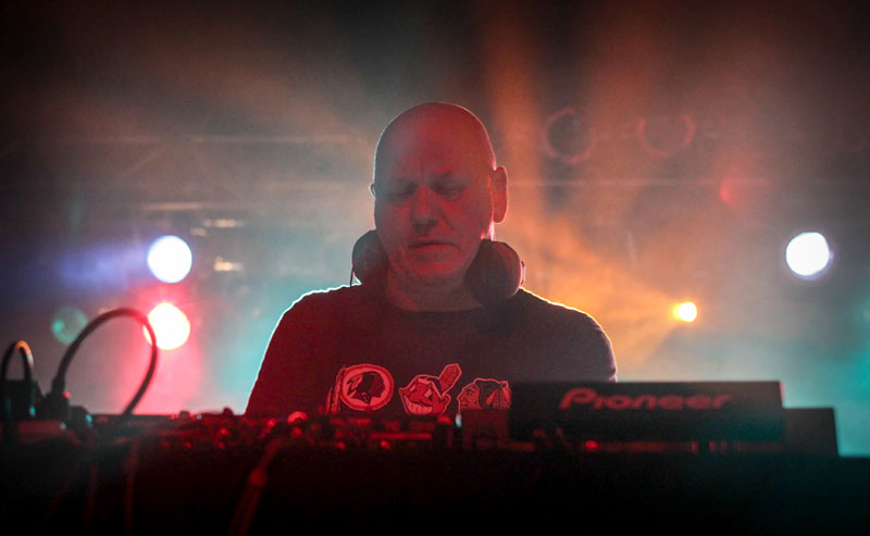 Wafty Beats: The Orb's Alex Paterson at Orange Peel. © Criss Images