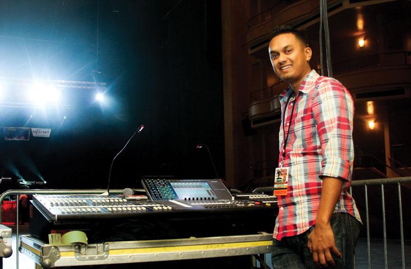 Ian at the soundboard.