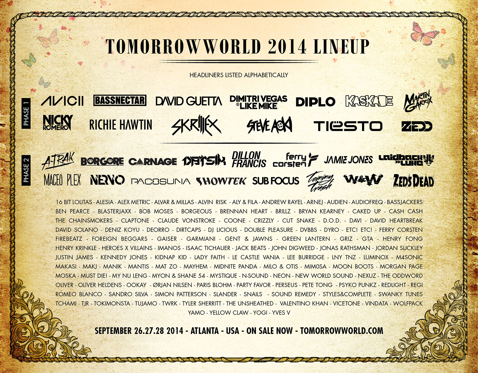 TW 2014 Lineup - Poster