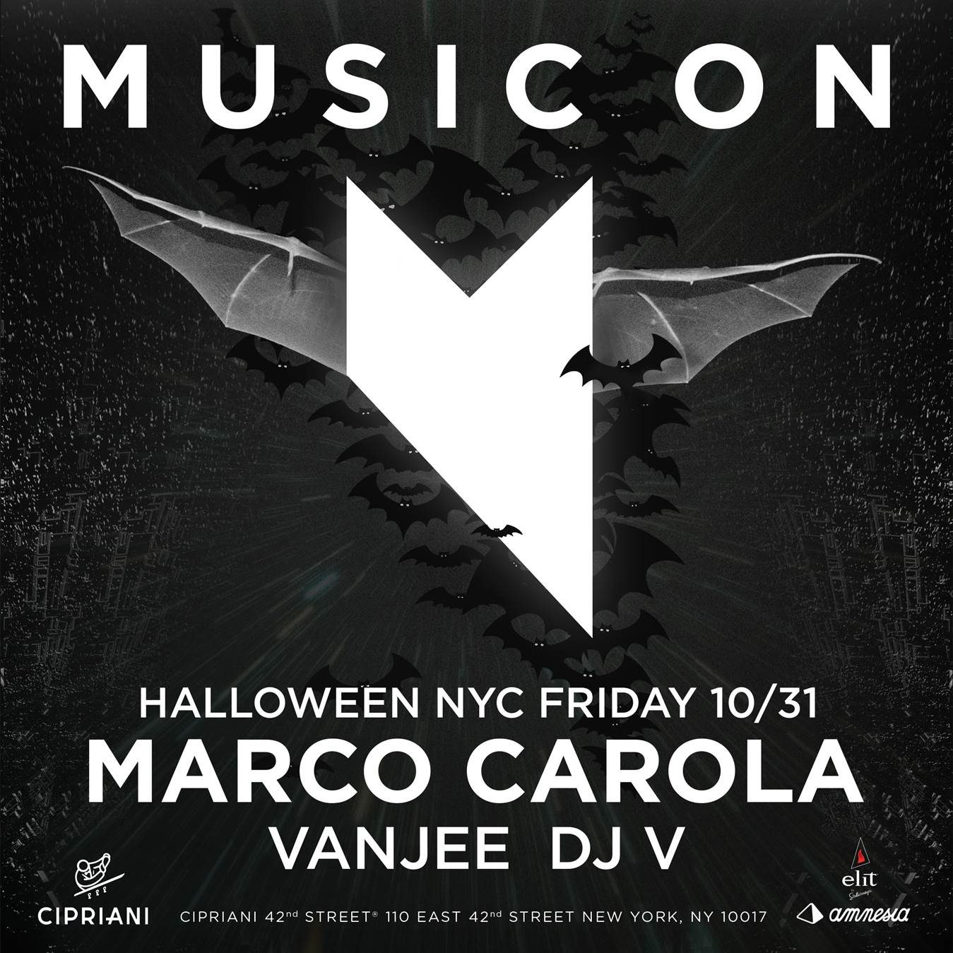 nyc giveaway marco carolas music on cipriani on october 31 2014