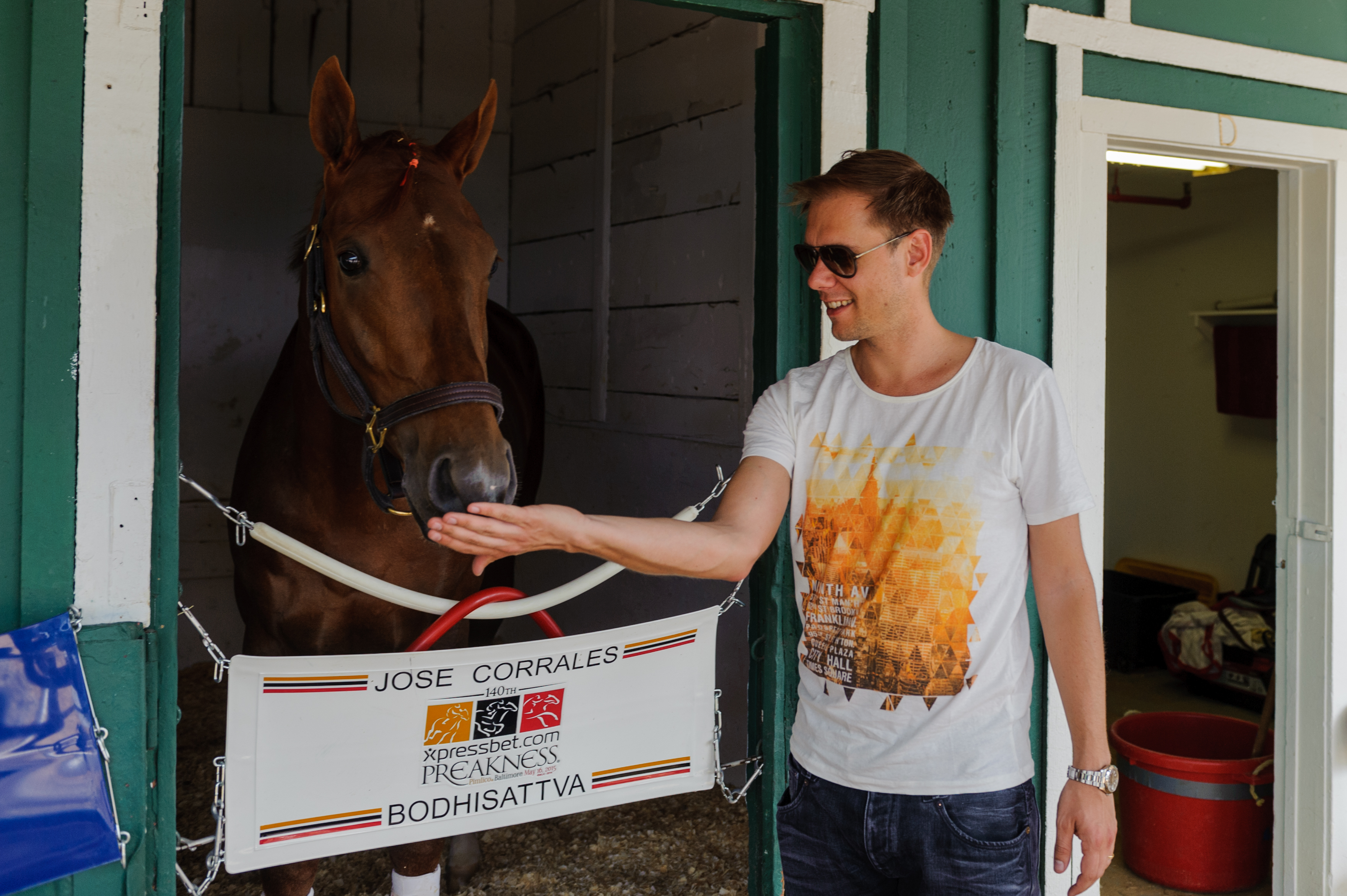 Longshot: Armin in the stables with Bodhisattva.
