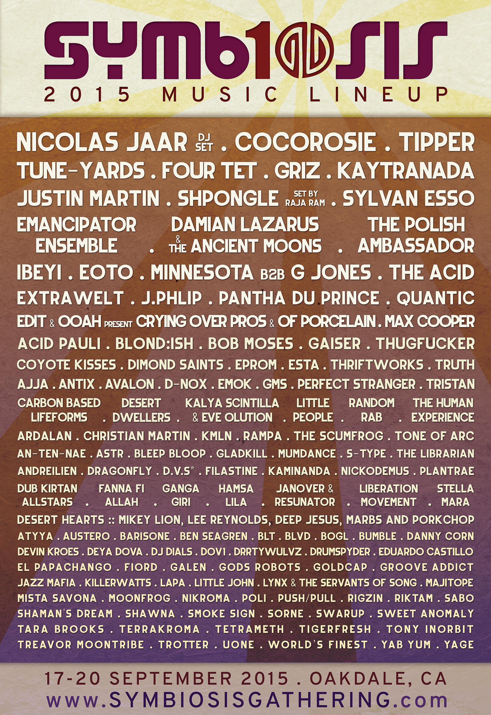 Symbiosis Gathering Complete Lineup