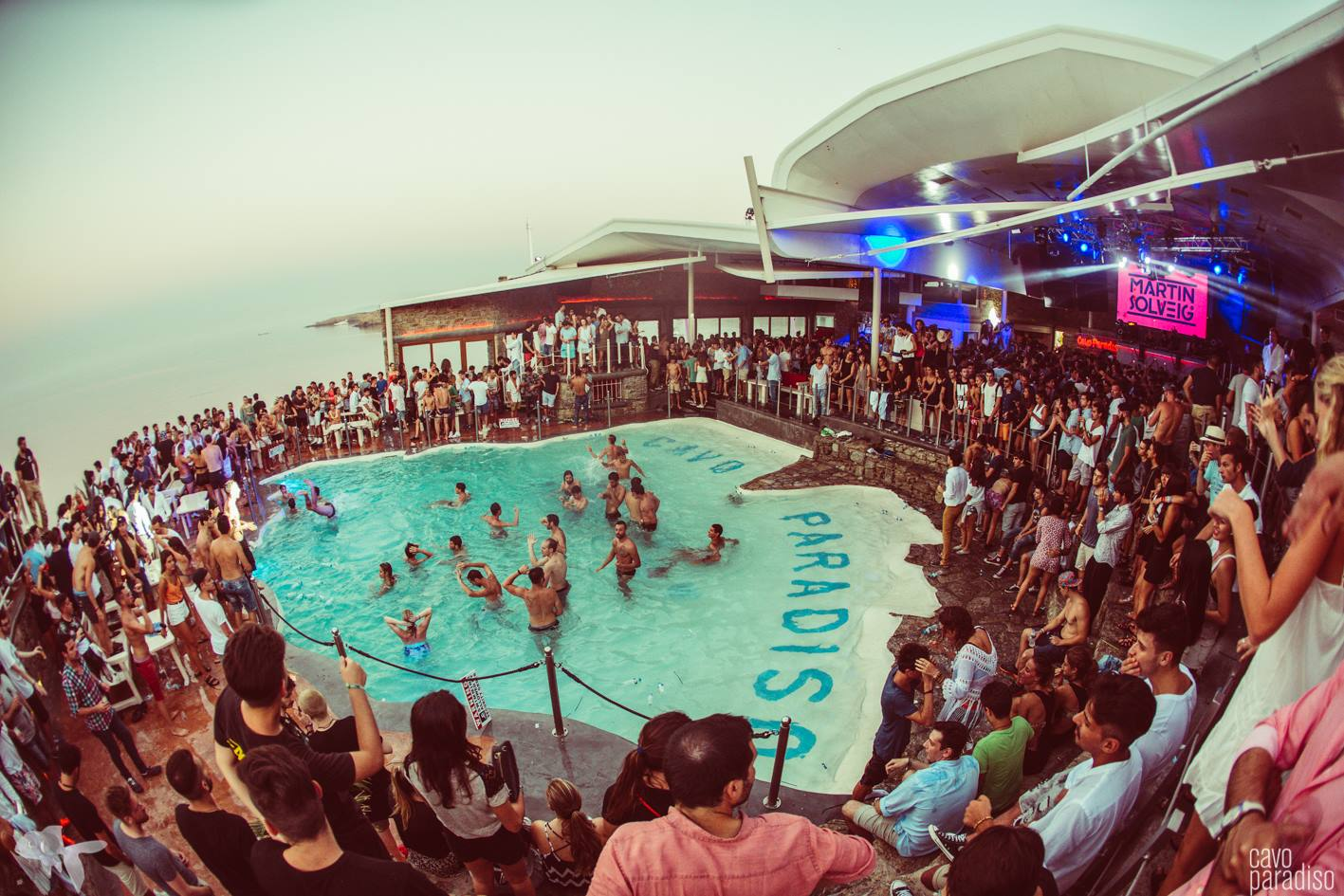 A night at Cavo Paradiso doesn't stop when the sun comes up.