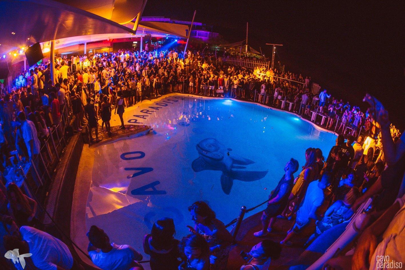Cavo Paradiso's iconic pool