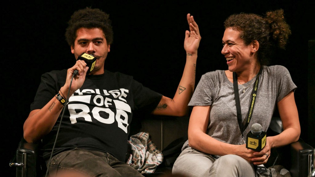 Repartee: Seth Troxler responds to Cassy's good-natured ribbing.