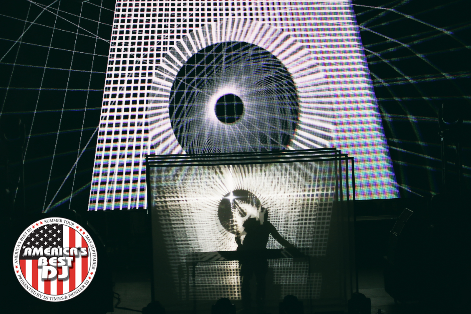 Dubfire brougt his trippy Live:Hybrid experience to Movement's main stage.| Photo: Adam Meyer