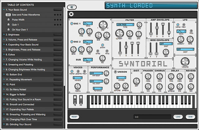 Syntorial: Progressive, detailed synth lessons.