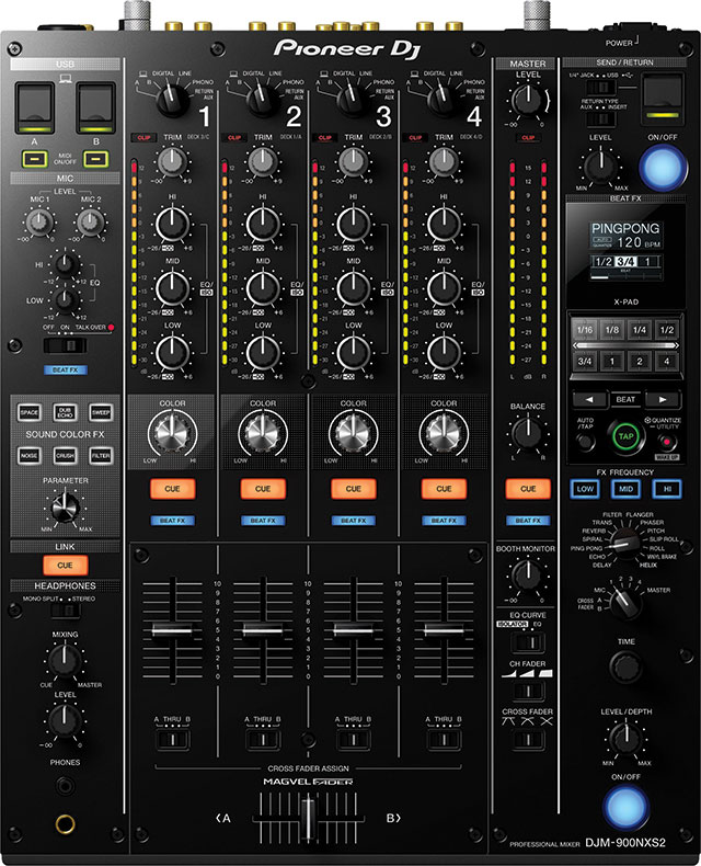 DJM-900NXS2: A mixer with 64-bit DSP & more.