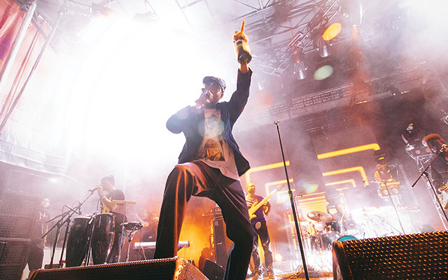Prince Dynamite: RZA on the mic. Adam Meyer