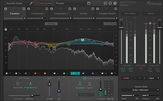 iZotope's Neutron: Analysis, metering, processing.