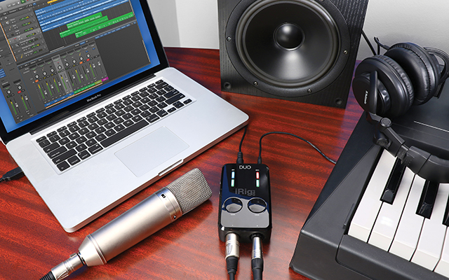 Portable Interface: IK Multimedia iRig Pro Duo.